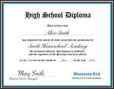 Photos of printable homeschool diploma template pictures to pin on - printable homeschool diploma template pictures to pin on Homeschool Diploma, Certificate Of Achievement Template, High School Diploma, Parents As Teachers, Curriculum, Discovery, Accounting, Therapy, Parenting