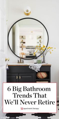 6 Big Bathroom Trends We're Not Ready To Say Goodbye To in 2020 Painted Pallet Signs, Diy Pallet Wall, Diy Pallet Projects, Yellow Bathrooms, Big Bathrooms, Laundry Room Inspiration, Diy Pipe, Sink Countertop, Bathroom Trends