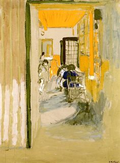 The Study at Pavillons Edouard Vuillard - 1910
