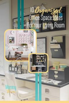 Living Room Office Layout Ideas - Living Room Office Space for Small Spaces - Corner Living Room Office with Desk - 10 Best Ways To Set Up An Office In Your Living Room Clutter Organization, Small Space Organization, Home Office Organization, Declutter Your Home, Organizing Your Home, Organization Ideas, Creative Office Space, Industrial Home Offices, Small Spaces