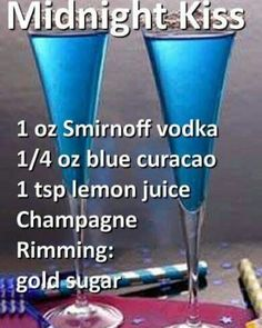 Midnight Kiss #cocktails #cocktailrecipes