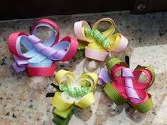 Crafted by Katie: Butterfly Hair Clips tutorial