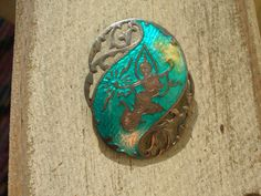 Siam Sterling Silver Turquoise Enamel Brooch / Pin by TillyFritz, $21.99