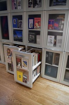 BookCase CP01 | interesting project , bookcase depth 70 cm. every 45 large cm. of door 1,40 mt. linear of books, with also integrated Door for night zone rooms design by Lauro Ghedini