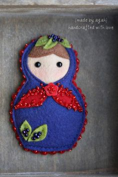 babushka broches- Could be done in paper for scrapbooking.