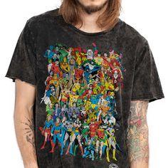 Camiseta Marmorizada DC Comics Originals bandUP! - Preto