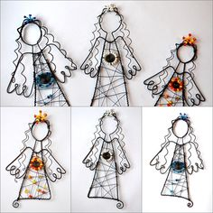 Malý andílci od Marcely Cirhanové Christmas Diy, Christmas Decorations, Christmas Ornaments, Diy Garden Projects, Projects To Try, Wire Ornaments, Wire Flowers, Angel Crafts, Wire Crafts