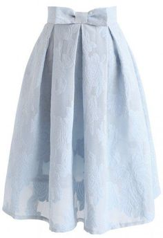 Rose Garden Bowknot Pleated Skirt in Blue - Retro, Indie and Unique Fashion Pleated Skirt, Dress Skirt, Midi Skirt, Tan Skirt, Unique Fashion, Mode Outfits, Fashion Outfits, Fashion Fashion, Rock Fashion
