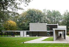 Rietveld Pavilion at the Kroller-Muller Sculpture Garden in Otterlo