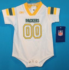 NEW WITH TAGS~NFL, GREEN BAY PACKERS-TOP /ONESIE. SIZE 3-6 M. SNAP BACK
