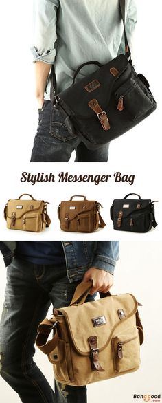 US$ 36.45 + Free shipping. Men's Bag, Messenger Bag, Canvas Bag, Crossbody Bag, Handbag. Color: Khaki, Black, Coffee. A Must for Street Style.