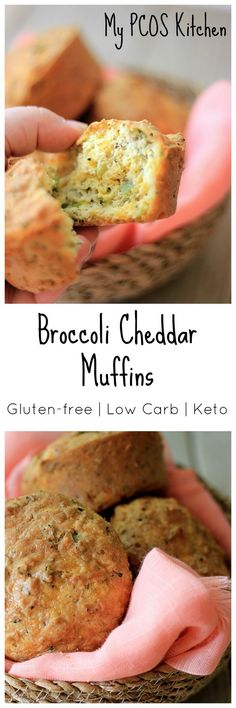 My PCOS Kitchen  - Keto Broccoli Cheddar Muffins - These delicious low carb muffins are also gluten-free and sugar-free! Perfect for breakfast or a light snack. #keto #lowcarb #breakfast #glutenfree