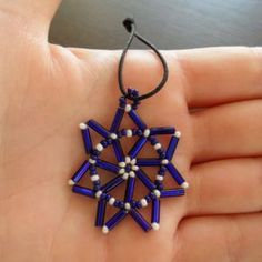 Make beaded Christmas decorations - Follow @Guidecentral for #DIY and #craft projects