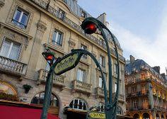 Metropolitain Paris Metro Black and White Art by TheWorldExplored