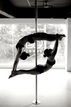 Pole Fitness - Dolphin ....I aspire to be able to do this. Maybe in about 15 years or so!