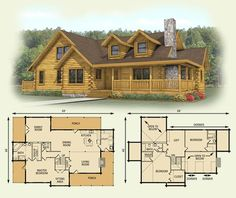 My dream home would be similar: spruce valley log home and log cabin floor plan Log Cabin House Plans, Log Home Floor Plans, Log Cabin Homes, Log Cabins, Small Log Home Plans, Small Log Cabin, Log Home Decorating, House Layouts, Cabins And Cottages