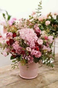 Flowers Bucket Ideas: Trendy flowers bucket bouquets floral arrangements ideas Flowers Bucket I Beautiful Flower Arrangements, Floral Arrangements, Beautiful Flowers, Deco Floral, Arte Floral, Bouquet Champetre, Raindrops And Roses, Flower Boxes, Floral Centerpieces