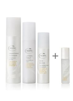 ABC + EYE REFRESH - £52 - Our natural, purely plant derived skincare set is specially formulated to revitalise, smooth and dramatically firm, while promoting healthier, younger looking skin from the first use. SAVE £15 • smoothing cleanser (120ml) • bamboo face cloth • vitamin toner (120ml) • skin revive (50ml) • eye refresh (10ml)