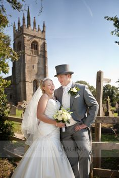 Traditional top hat and tails is befitting a church  wedding