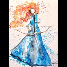 Watercolor anything is cool. And that it's Merida just makes it cooler.