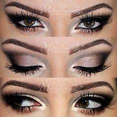 Gorgeous smokey brown eyes