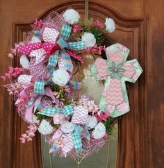 Check out this item in my Etsy shop https://www.etsy.com/listing/267292383/grapevine-cross-spring-easter-wreath