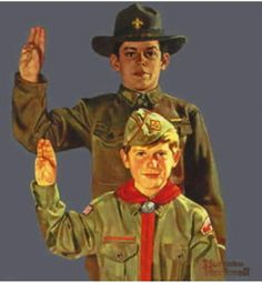 Norman Rockwell - Boy Scouts Pledging, 1971