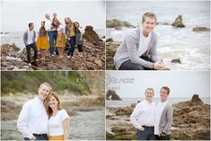 large family portrait, photography, Laguna Beach session, rocks, cliffs, ocean, #Family Portraits, storyboard, Gilmore Studios