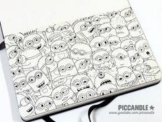 ❋ Minions Doodle ❋ Watch sketching process of this doodle on www.youtube.com/piccandle