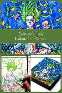 Seaweed Lady - Watercolour Painting - Artfully Creative Life