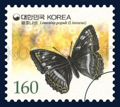 Definitive Postage Stamp, Limenitis populi, Insect, black, Yellow, 2002 01 15, 보통우표, 2002년01월15일, 2190, 왕줄나비, postage 우표