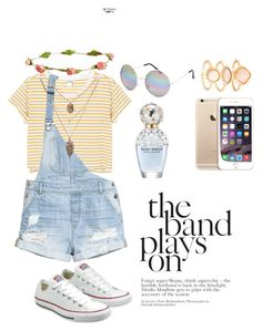 """""""Roskilde...before the beer☀️"""" by nicoline-petersen on Polyvore featuring Full Tilt, Monki, H&M, Converse, Aéropostale, Monsoon and Marc Jacobs"""
