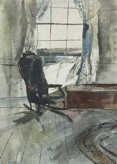 r andrew wyeth Andrew Wyeth Paintings, Andrew Wyeth Art, Jamie Wyeth, Watercolor Landscape, Watercolor Paintings, Watercolors, Russian Painting, Smart Art, Paintings