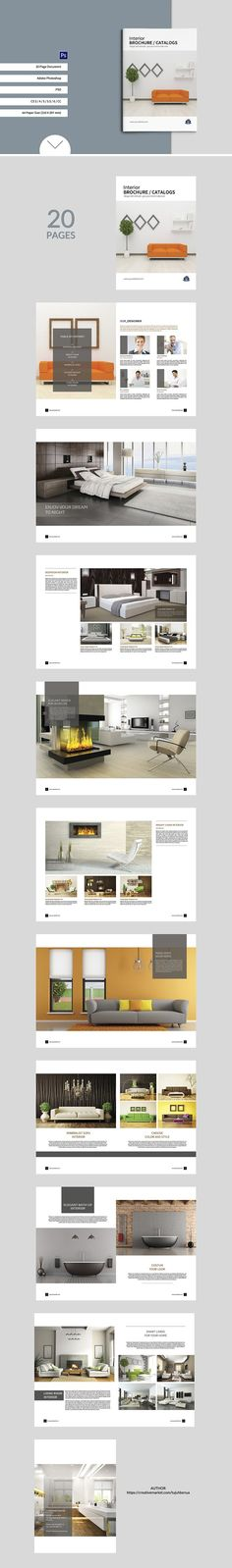 Interior Design Brochure A4 Design Template - Corporate Brochures