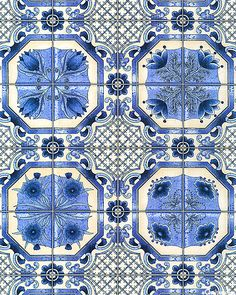 classy dutch delft tiles which remind a lot of the islamic patterns