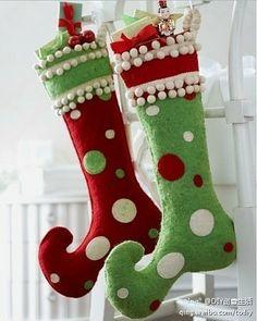 Botas de Navidad no tejidos de DIY