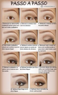 Best Ideas For Makeup Tutorials : passo a passo de maquiagem preta e marrom - Bing Imagens - Flashmode Worldwide Beauty Make-up, Make Beauty, Beauty Hacks, How To Make Hair, Eye Make Up, Make Up Gesicht, Eye Makeup Steps, Pinterest Makeup, Makeup Techniques
