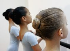 How to make student's buns as perfect (and painless) as possible ~ from danceadvantage