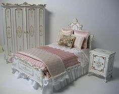 Dollhouse Miniature Bedroom Set
