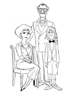 Fred's family.Stan Lee as his dad and three different version of Fred's mom.or…..his dad married three times :)