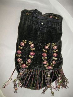 1800's beaded purse