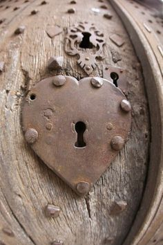 heart shaped antique lock