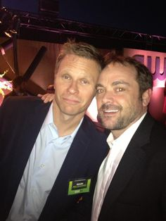 Mark Pellegrino and Mark Sheppard #Supernatural