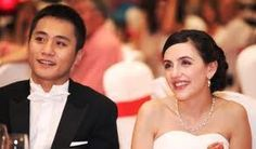 Actor Liu Ye and his french wife