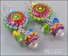 In LOVE with Paris   Handmade lampwork Earrings by MichouJewelry, $119.00