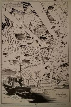Mike Mignola - Superman #23 splash Comic Art