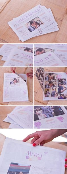 "Journal ""Merci"" #mariage #wedding"