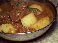 This is a simple curry, but a surprisingly tasty one. This recipe from the Punjab region of India and Pakistan is a no fuss, everyday curry with lashings of rich, glossy gravy – just perfect … Lamb Recipes, Curry Recipes, Indian Food Recipes, Cooking Recipes, Ethnic Recipes, African Recipes, Drink Recipes, Pakistani Dishes, Indian Dishes