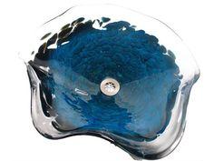 Handblown Glass Sink - Splash - Blue Luster