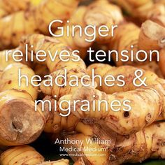 Ginger relieves tension headaches & migraines Learn more about the healing powers of ginger in Life-Changing Foods, link in profile